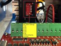 Stepper Driver DIP Switch Settings